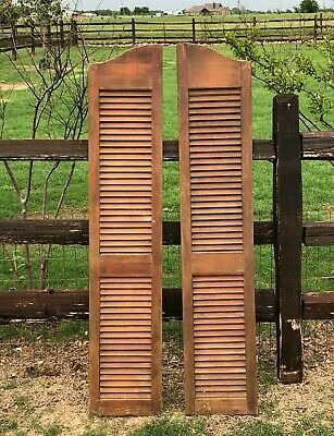 Vintage Set  Wooden Shutter Salon Swinging Doors Antique Architectural Salvage