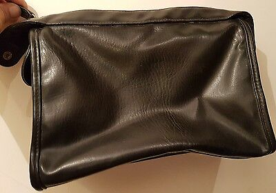 Ladies St Michael Marks & Spencer Black  Strapless Leather Handbag Size Medium