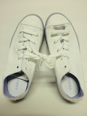 1217bb323c20 CONVERSE Kids sz 4 Chuck Taylor All Star Jelly Low White Sneakers 660767C  DEFECT