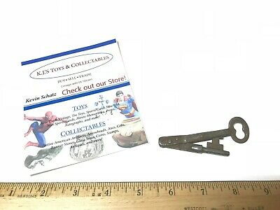 RARE Antique Prison Jail SKELETON FOLDING KEY Old West Jail cell key 1869