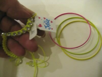 GYMBOREE ALL SPRUCED UP GREEN /& GOLD GLITTER BANGLES BRACELET 6-CT NWT