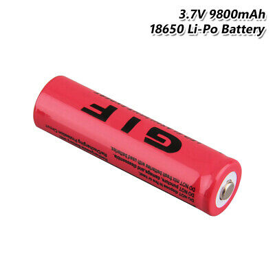18650 Battery Rechargeable 3.7V 9800mAh GIF Li-ion Cell For Flashlight Torch 26