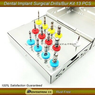 Dental Implant Bur Drills Surgical Grafting Tissue Wall Implant Kit 13 Pcs