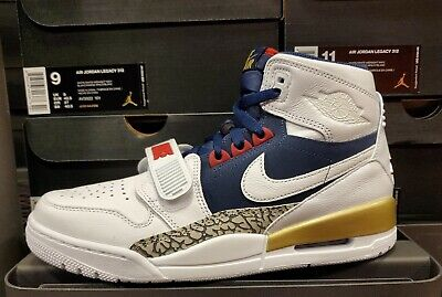 size 40 5436c aaaec Air Jordan Legacy 312 Off-Court White White Midnight Navy Varsity Red