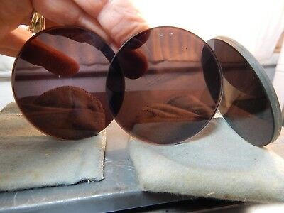 "3-Tinted Two-Ply 2 9/16,x 1/8+"" Round Cutting Torch welding Goggles Glass Lenses"