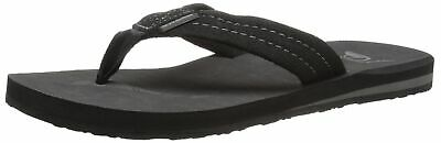 Quiksilver NEW Black Carver Suede 3-point Thong Mens 8 Flip-Flops Sandals 281