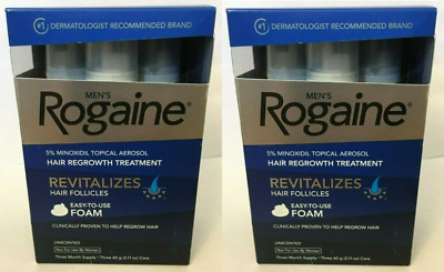 (6) ROGAINE MENS 5% TOPICAL FOAM MINOXIDIL 6 Month Supply (6) CANS 05/2020 NEW