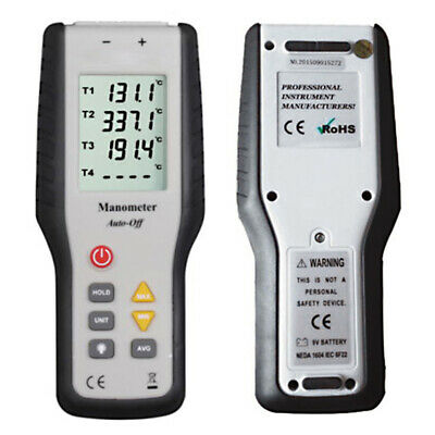 K Type Digital Thermocouple Thermometer Sensor Meter °C/°F Handheld LCD 4 Probes