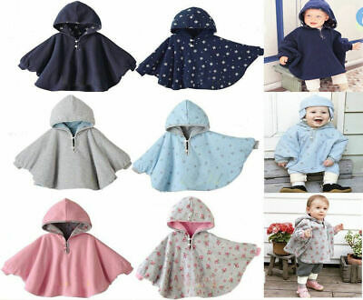 Baby Kids Toddler Boys Girls Hooded Cape Cloak Poncho Coat Jacket Outfit Clothes