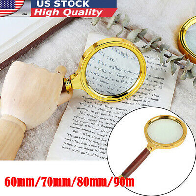 Classic 10X Magnifier Magnifying Glass Handheld Jewelry Loupe Reading US 4 Sizes