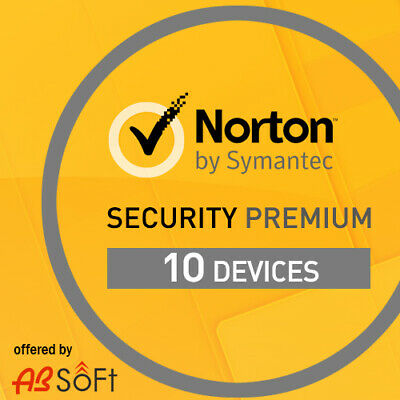 Norton Security Premium 2019 10 Devices PC 1 Year UK