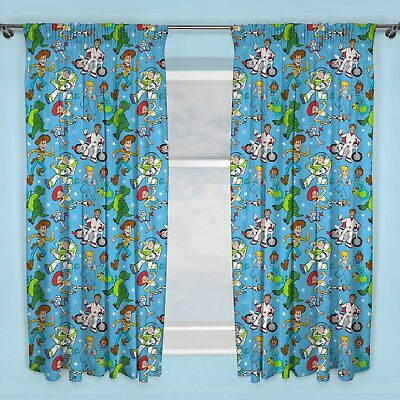 "Toy Story 4 Rescue Curtains Readymade Kids Bedroom 54"" Drop"