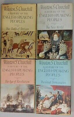 I-IV HISTORY OF THE ENGLISH SPEAKING PEOPLE  by W.S CHURCHILL  *FREE UK POST*HB