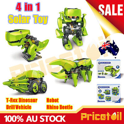 4 in 1 DIY Assemble Solar Power Educational Toy Solar Robot Dinosaur Insect Kit