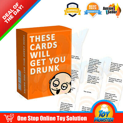 OZ These Cards Will Get You Drunk - Fun Adult Drinking Game For Parties