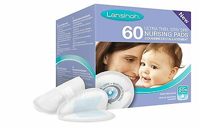 Lansinoh Disposable Breast Nursing Stay Dry Pads 60 Count