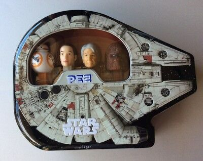 Star Wars Millennium Falcon Pez Gift Set Collectable Tin New Unopened Ltd Edtn.