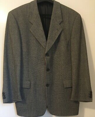 LORENZO BRUNO Modern Fit Men's Wool Gray Business Suit Size 40S And Pants