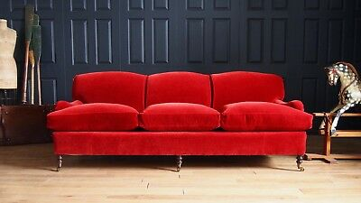 George Smith 3 Seat 8ft Sofa to be Reupholstered in Fabric or Leather