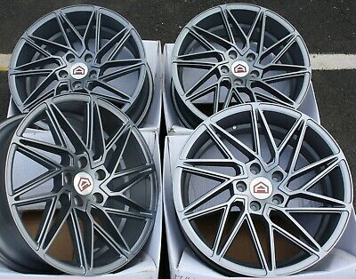 "Alloy Wheels X 4 18"" Grey Turbine For Audi A6 A8 Q5 Q7 5X112 Tt Coupe Cabriolet"