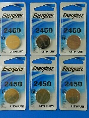 Energizer  CR2450 Lithium 3V  Watch Batteries Cell, 6Pcs
