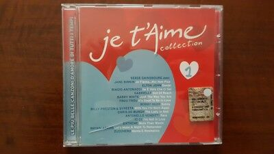 Various ‎– Je T'Aime Collection CD Italy Antonacci Elton John Venditti Zucchero