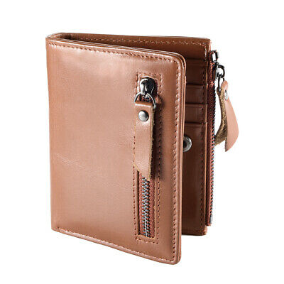 Fashion Men's Wallet First Layer Cowhide Leather License Window Light Brown