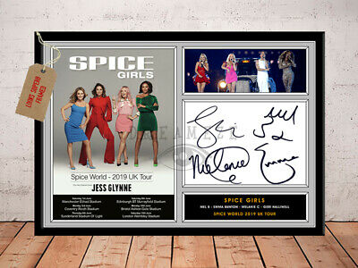 SPICE GIRLS SIGNED Photo Print SPICE WORLD TOUR 2019 Free Postage