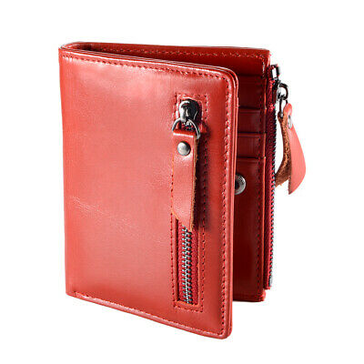 Fashion Men's Wallet First Layer Cowhide Leather License Window Red MT624