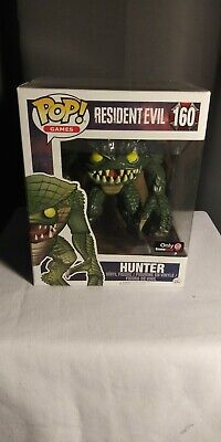 "Funko Pop! 6"" Gamestop Exclusive Hunter Resident Evil 160 Pop Games"