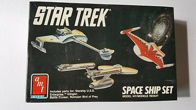 Star Trek Space Ship Set -Original Series Boxed Sealed Contents Ent/Kling/Rom