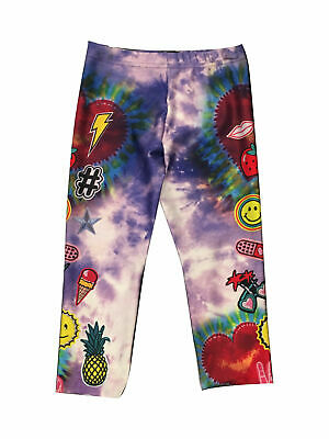 Zara Terez Tie Dye Patches Capri Leggings Large 12-14 and Medium 8-10
