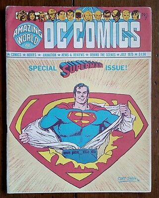 The Amazing World Of Dc Comics 7, Superman Issue, Dc Comics, July 1975, Fn
