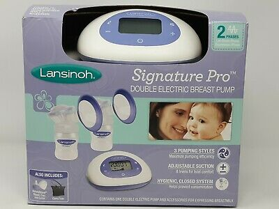 Lansinoh Signature Pro Double Portable Electric Breast Pump with LCD Screen