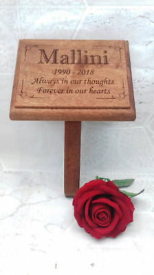 Solid Wooden Mahogany Memorial Stake Grave/Tree Marker/wooden remembrance marker