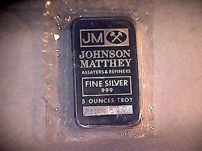 5oz SILVER JOHNSON and MATTHEY &T.D.LOGO BAR.