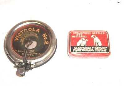 Victrola Nr 2 ✿ Disc Reproducer With 200 Lauten Nadeln