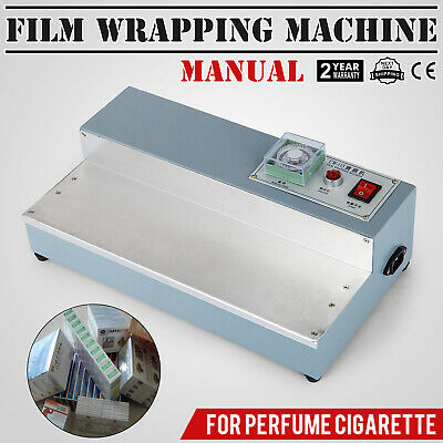 220V Cigarette Perfume Box Cellophane Wrapping Machine Film Packing Stainless