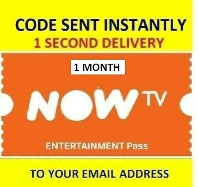 NOW TV Entertainment Pass - 1 Month Pass **INSTANT DELIVERY**