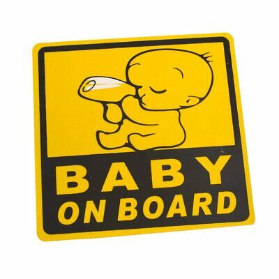Car Exterior Baby on Board Safety Sign Sticker Decal 11cm x 11cm