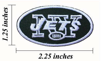 """New York Jets Small Size Width 2.25"""" Embroidered Iron On Patch."""