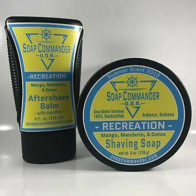 Recreation Shaving Soap and Aftershave Balm - by Soap Commander (Pre-Owned)