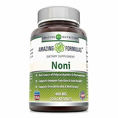 Amazing Nutrition Noni - 400mg Capsules - 120 Capsules Per Bottle - Made From Ta