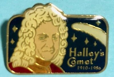 * 2-Pin Set Halley/'s Comet Sitmar Cruises Once in a Lifetime /& Ship 1986 Lot 2