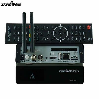 ZGEMMA H9.2H DVB-S2X+DVB-T2/C E2 4K UHD Combo Satellite Receiver 300Mbps WIfi