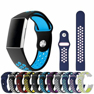Fitbit Charge 3 Replacement Sports Band Strap Silicone Wrist Watch Bands Fit Bit