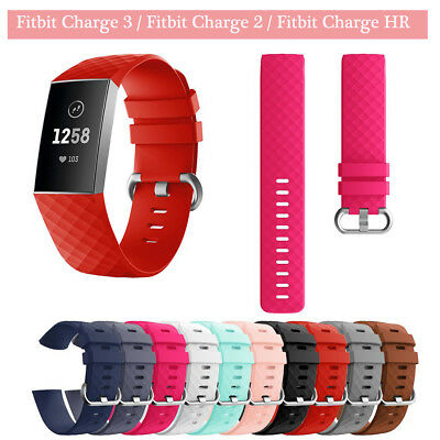 Sport Watch Band Replacement Wristband Watch Strap Bracelet Fitbit Charge 2 3 HR