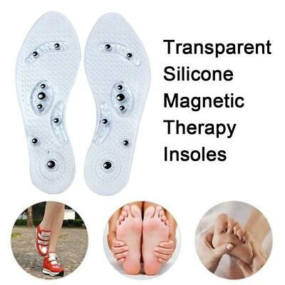 2Pair Therapy Acupressure Massage Magnétique Semelle Semelle Gel Pad Pied Relax