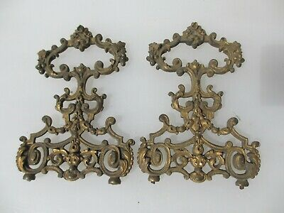 Victorian Brass Furniture Ormolu French Hardware Finial Rococo Handles Tops Old