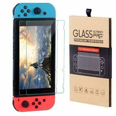 [2 Pack] For Nintendo Switch Tempered Glass Screen Protector